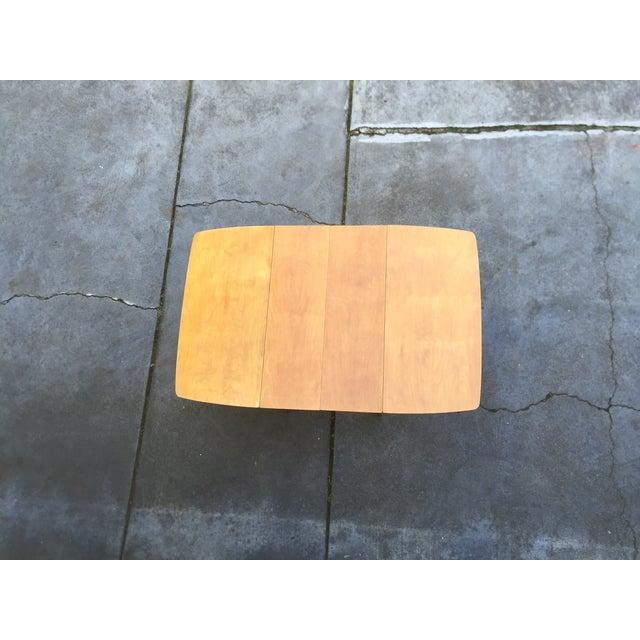 Mid-Century Modern Drop Leaf Wood Table - Image 4 of 8