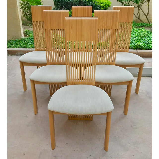 Costantini Maple Slatted Dining Chairs - Set of 6 - Image 2 of 10