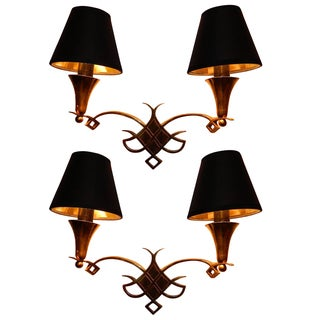 Pair of 1940s French Sconces
