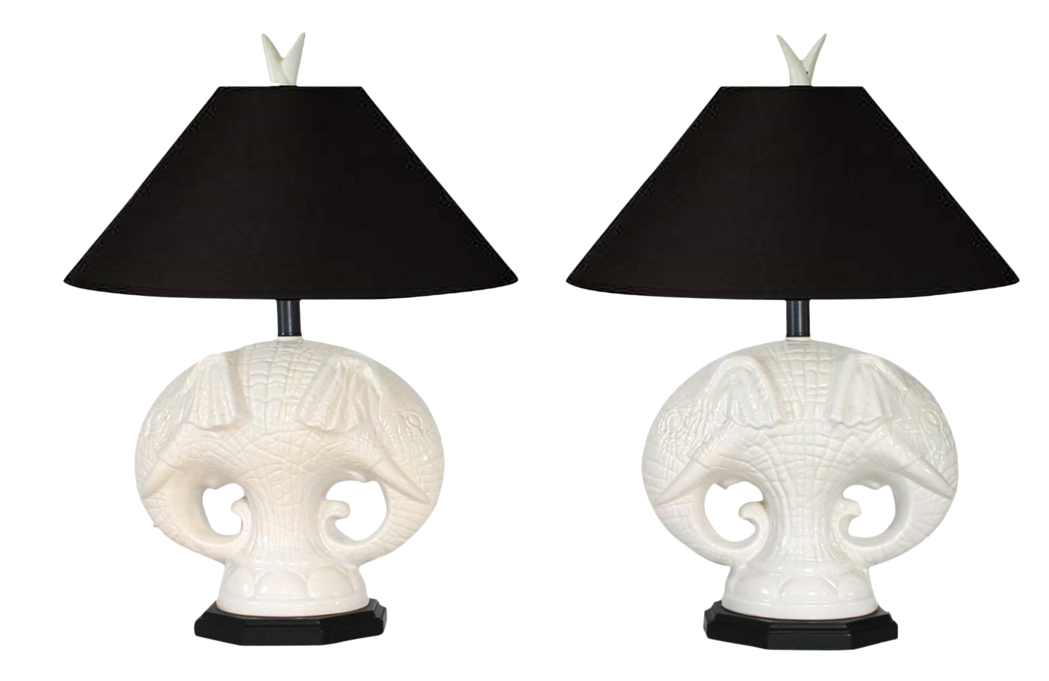 Royal Haeger Elephant Table Lamps   Image 1 Of 10