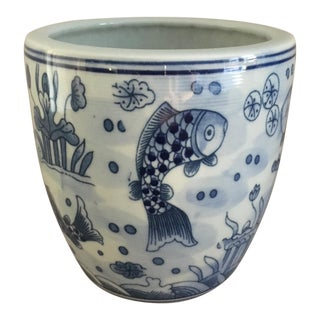 Blue & White Chinoiserie Vase