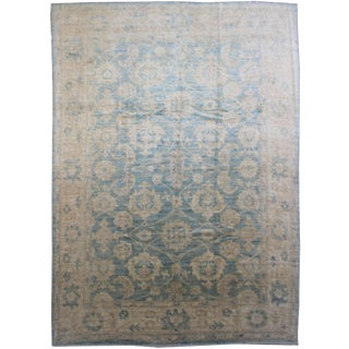 Aara Rugs Inc. Hand Knotted Oushak Rug - 9′ × 12′