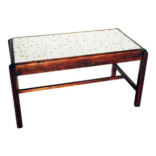 Mid-Century Mosaic Tile Coffee Table or Bench