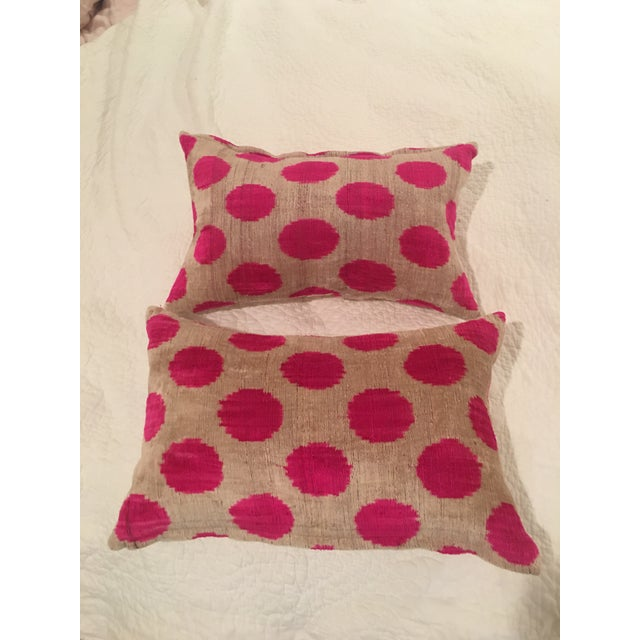 Pink Dots Handmade Pillows - A Pair - Image 9 of 9