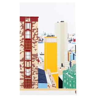 Mori Shizume - New York Skyline 1 Silkscreen