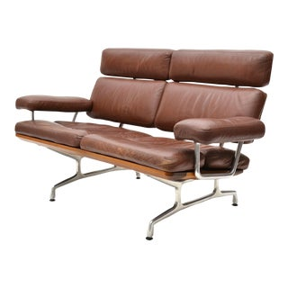 Eames Teak and Leather Sofa by Herman Miller