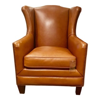 Henredon Cognac Leather Chair
