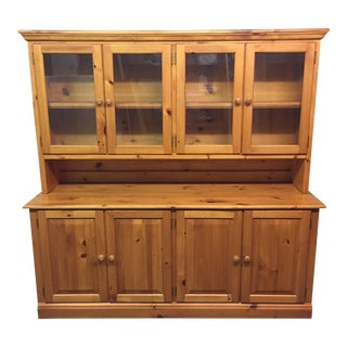 Two Piece Pine Sideboard and Hutch