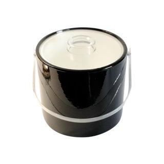 Black & Lucite Ice Bucket