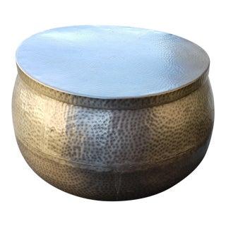 Hammered Cala Metal Coffee Table