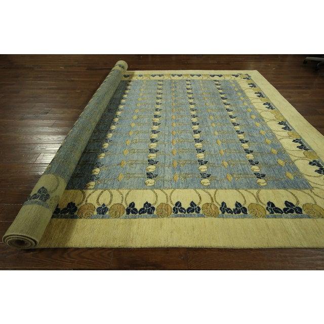 Super Gabbeh Blue Wool Rug - 9' x 12' - Image 10 of 10