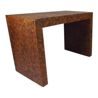 Vintage Modern Cork-Top Parsons Style Side Table