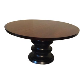 Bernhardt Solid Wood Round Pedestal Dining Table W Leaf