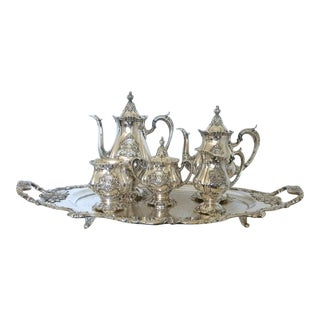 Wallace Silverplate Christopher Wren Six-Piece Coffee Service Set