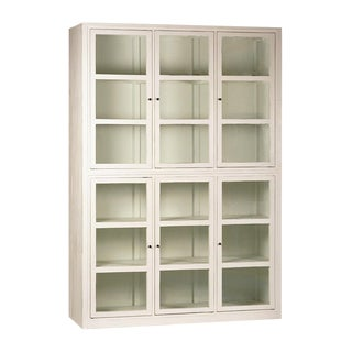 White Wood & Glass Cabinet