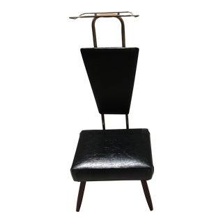 Vintage Black Leather Men's Valet