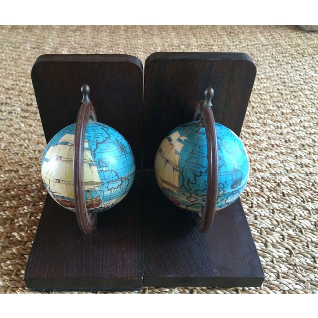 Nautical Spinning Globe Ships Bookends - Pair - Image 5 of 6