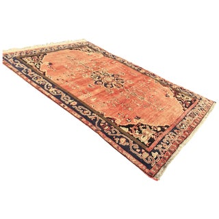 Vintage Faded Red Anatolian Rug - 6′4″ × 9′1″
