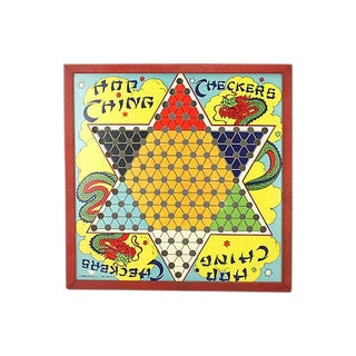 1950s Chinese Checkers Game Board