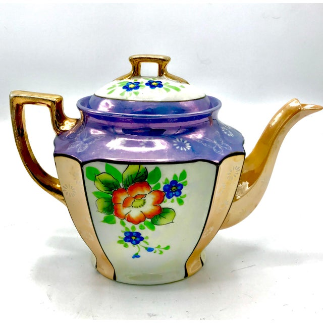 Antique Japanese Lustreware Teapot - Image 7 of 7