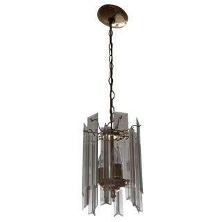 Lucite and Glass Chandelier
