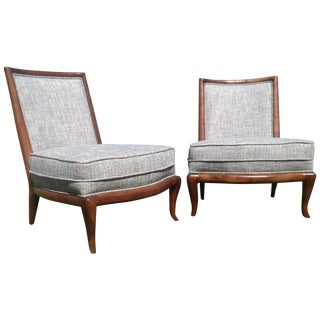 Mid-Century Style Modern Slipper Chairs - A Pair