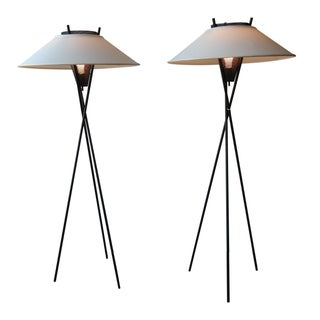 Gerald Thurston Tripod Floor Lamps - Pair