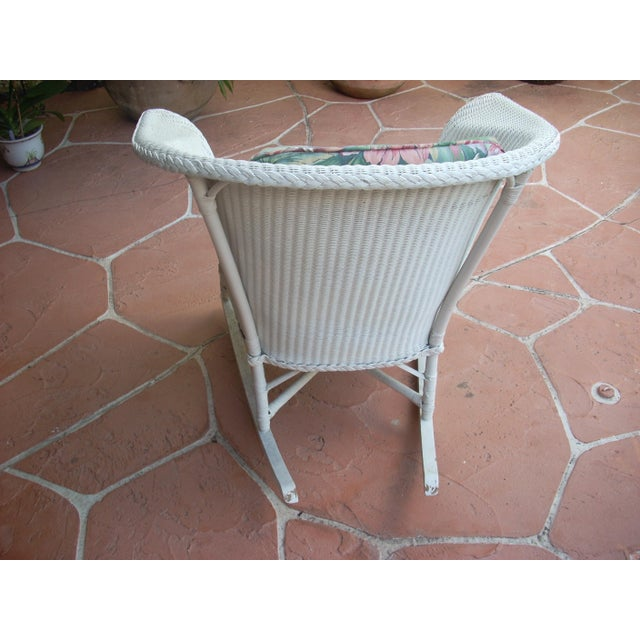 Contemporary Cottage Wicker Chair & Rocker - a Pair - Image 8 of 8