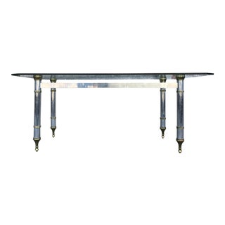 Vintage Italian Chrome & Brass Dining Table