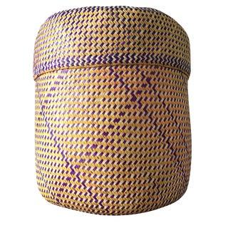 Purple & Gold Oaxacan Palm Basket