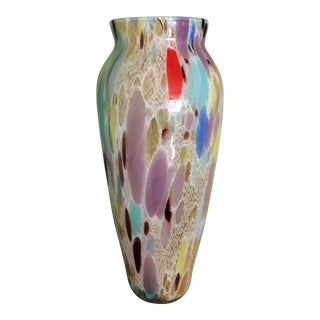 Vintage Mid-Century Style Art Glass Vase