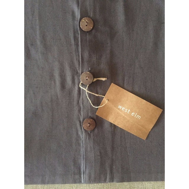 West Elm Slate Grey Tassel Pillow Covers - A Pair - Image 6 of 11