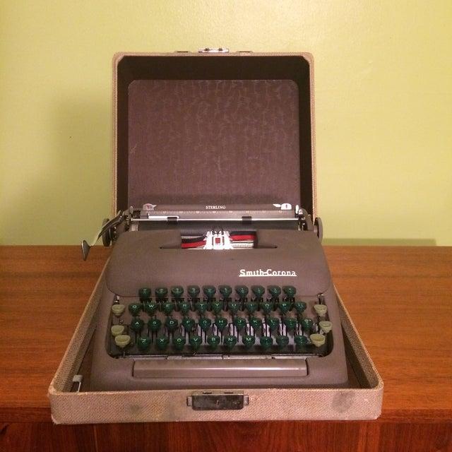 Vintage Smith-Corona Sterling Typewriter & Case - Image 8 of 8