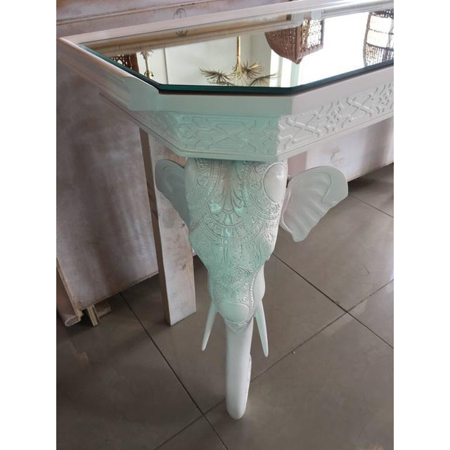 Gampel-Stoll White Elephant Console Table - Image 7 of 11
