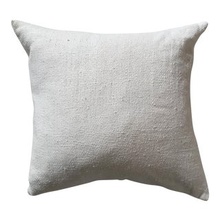 West Elm Silk Loomed Ivory Pillow