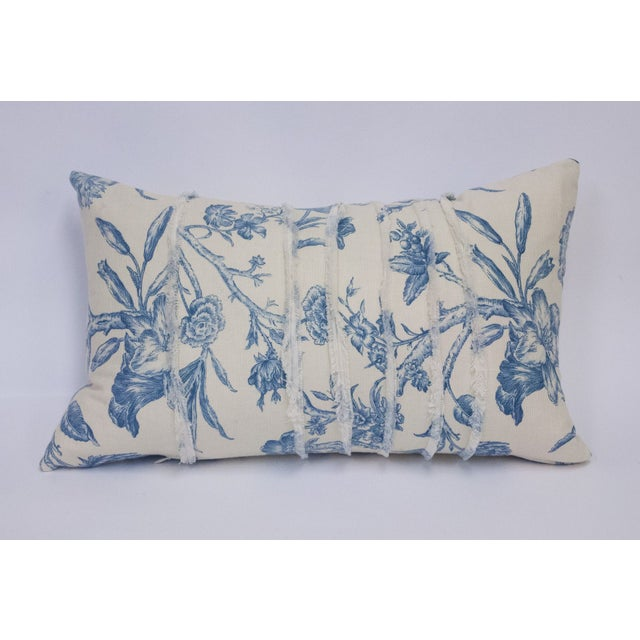 Deconstructed Cream & Blue Floral Pillow - Image 2 of 5