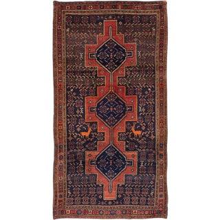 """Vintage Persian Senneh Rug- 4'11"""" x 9'5"""""""