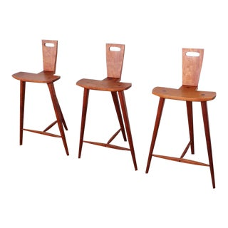 Three Barstools in the style of Tage Frid