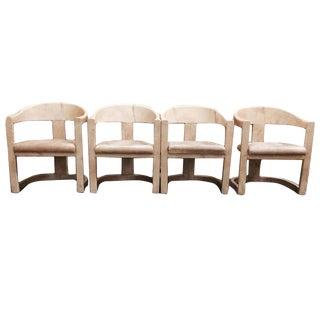 Set of 4 Karl Springer Onassis Chairs