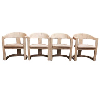 Set of 4 Karl Springer Onassis Chairs