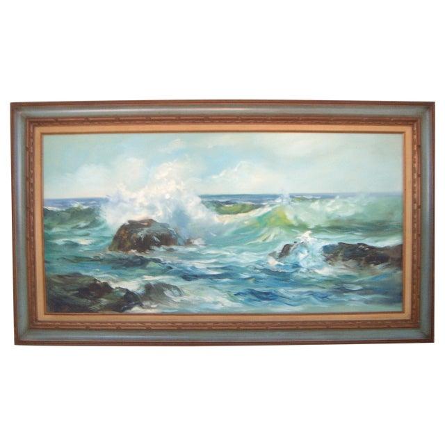 Pacific Ocean Breakers Oil Painting - Image 1 of 6