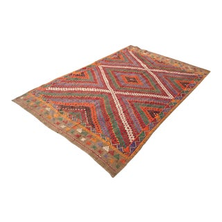 Vintage Turkish Kilim Rug - 5′6″ × 9′7″