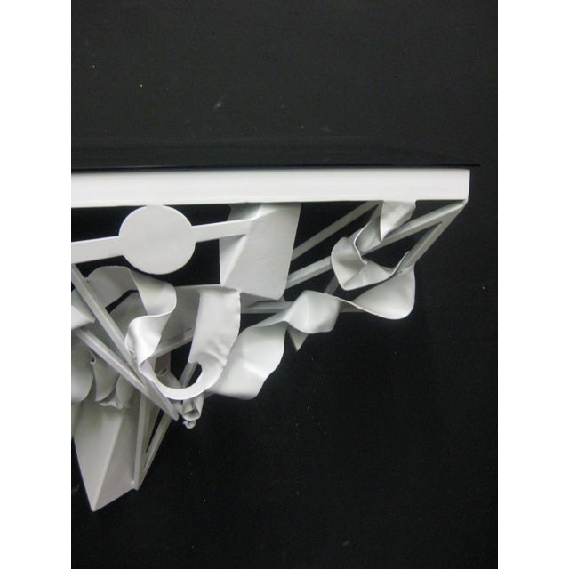 Wall Mounted Console in White Lacquer - Image 4 of 5