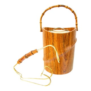 Kraftware Bamboo Ice Bucket & Bottle Caddy - A Pair