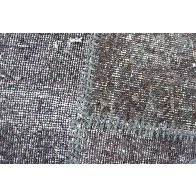 Image of Gray Turkish Anatolian Patchwork Rug
