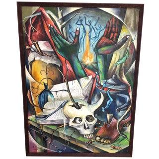 Haitian Voodoo Oil Painting, 1972