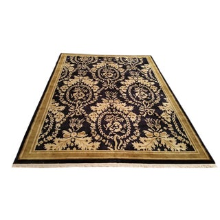 Traditional Hand Made Knotted Rug - 6′ × 9′