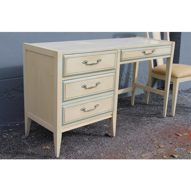 1960s Vintage Mid Century Modern Writing Desk & Chair - Image 4 of 10