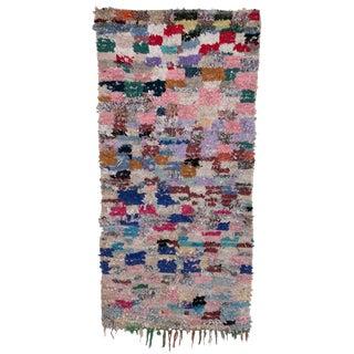 "Boucherouite Moroccan Carpet - 7'5""x3'8"""