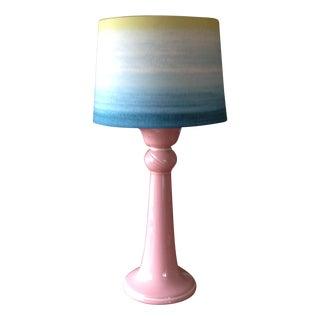 Vintage Pink Ceramic Table Lamp